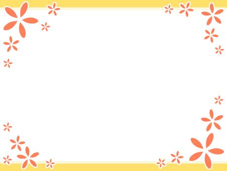 Flower simple frame 2
