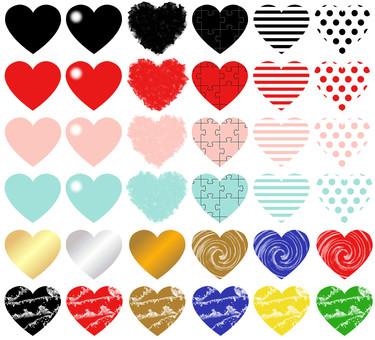Variedad de corazón