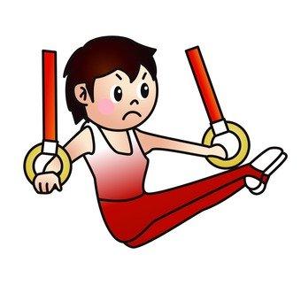 Man gymnastics