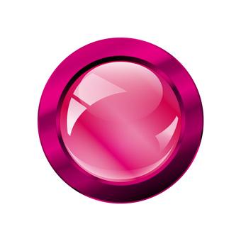 Three-dimensional gloss icon button