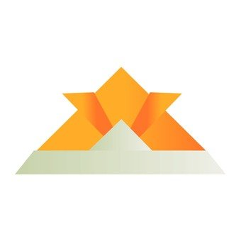 Origami of a helmet (orange)