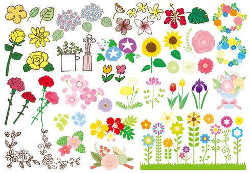 여러 터치 사계절 꽃