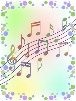 音符壁紙画像カラフル音楽背景素材イラスト