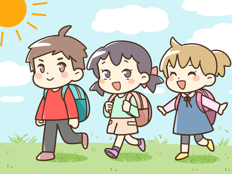 Children going on the excursion