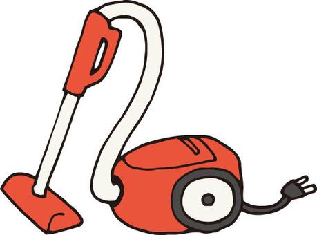 Vacuum cleaner (paper pack, red)