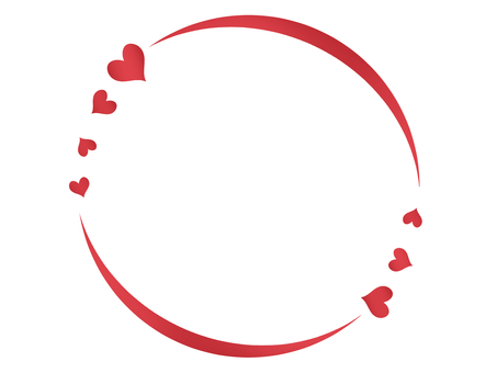Round sparkling frame heart