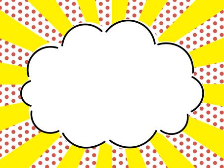 구름의 프레임 도트 레드 방사선