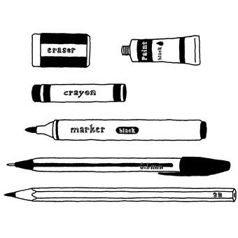 Writing instrument monochrome