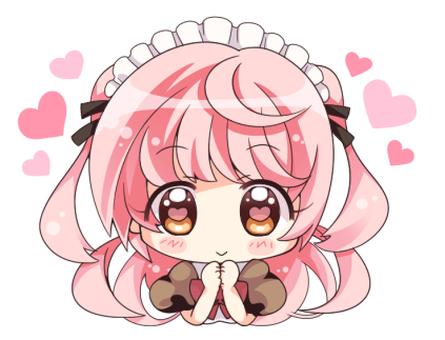Pink hair maid (Waku Waku)