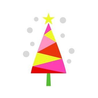Scandinavian tree (red, Christmas tree)