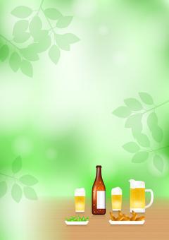 Beer in fresh green (vertical)