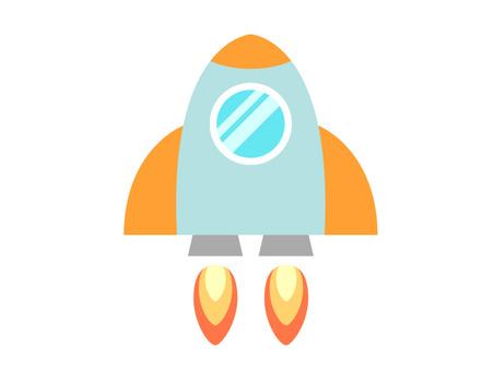 Space rocket illustration