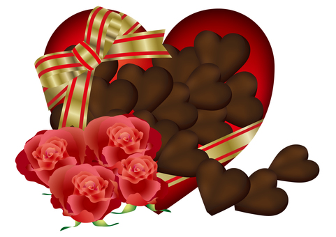 Heart Chocolate & Rose 3