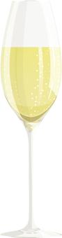 1個香檳杯