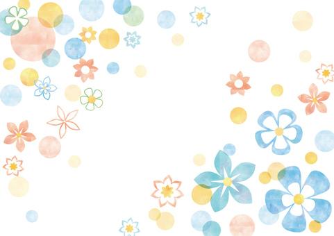 Flower pattern _ pastel background