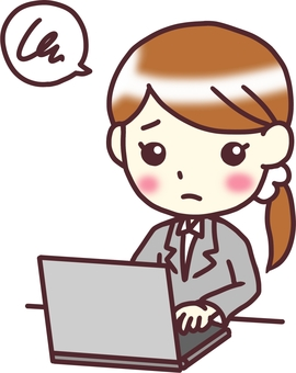 [여성 정장] 대각선 아래 _PC 음 _ 반신