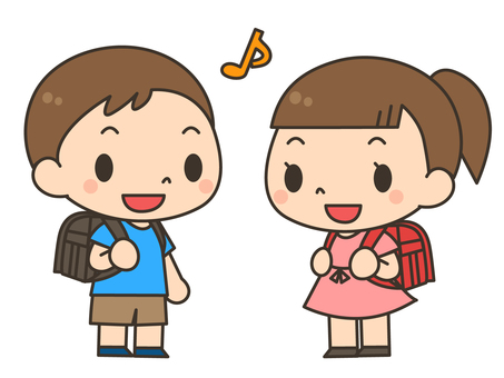 School bag _ boy and girl