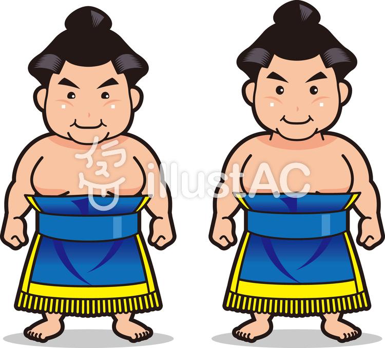 お相撲さん4化粧まわしイラスト No 805449無料イラストなら