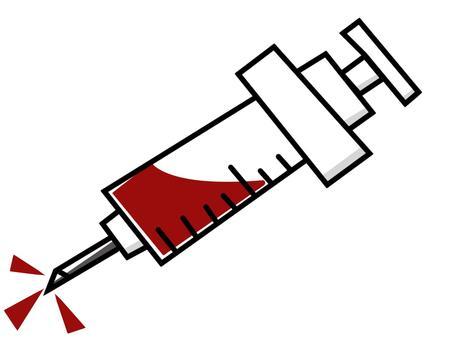 Syringe (with blood)