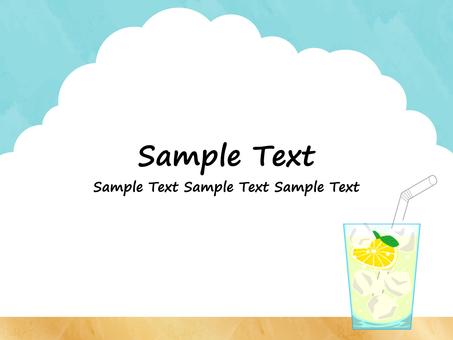 Summer background material ・ Lemon squash