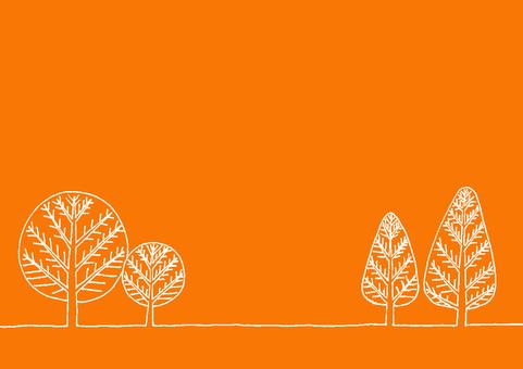 Winterscape orange and white