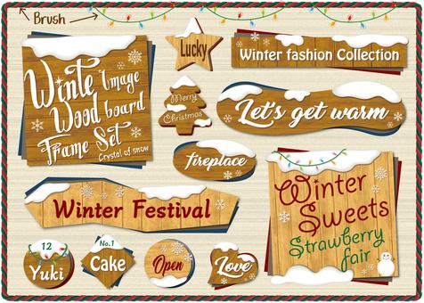 Winter Wood Label