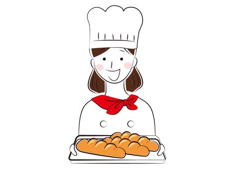 Woman _ bakery