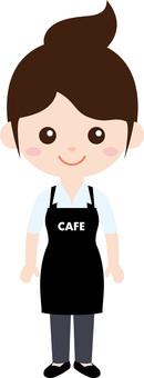 人職業製服(女)咖啡館職員