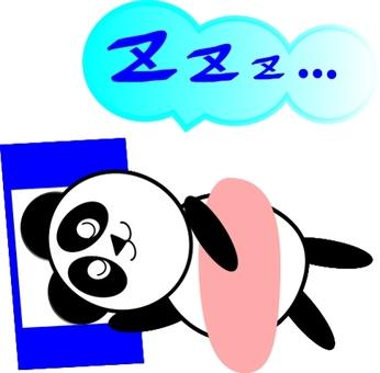 자고있는 팬더
