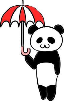 Panda and an umbrella