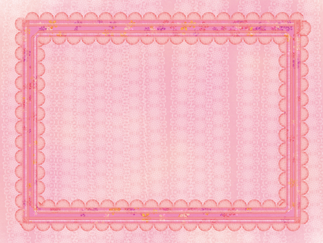 프레임 핑크 리본 벽지