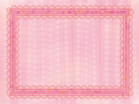 Frame pink ribbon wallpaper