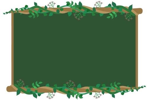 Branch and leaf blackboard