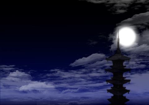 月光五層寶塔