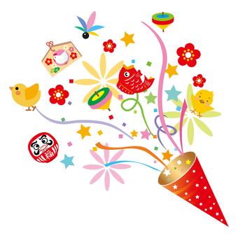 新年慶祝與餅乾