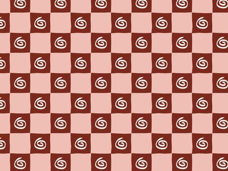 Guruguru Ippuri checker (red)