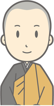 Buddhist priest youth a - seat sitting - bust
