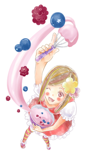 Girl making candy 2