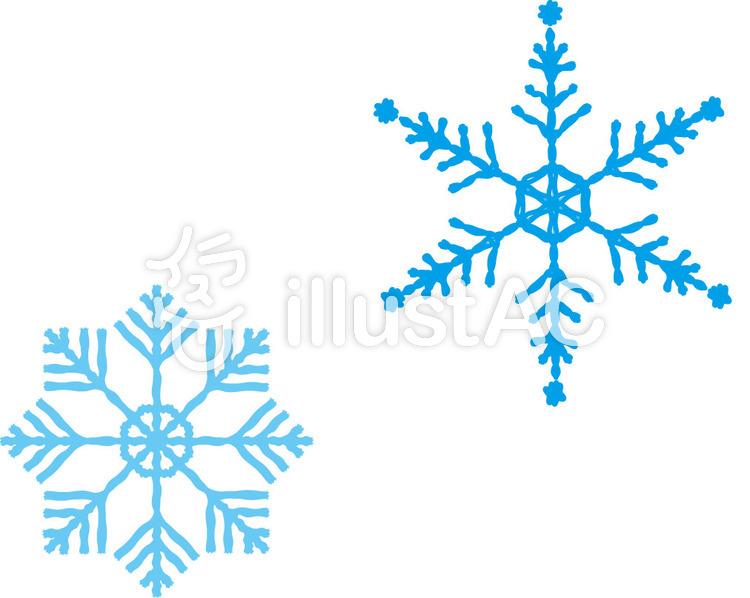手書きの雪の結晶イラスト No 300699無料イラストならイラストac