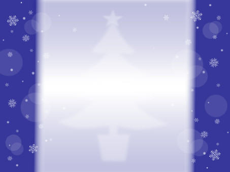 Snow crystal and Christmas tree blue series