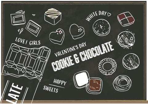 Blackboard chocolate cookie