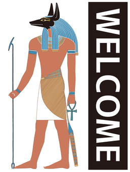 이집트 일러스트 아누비스 -2