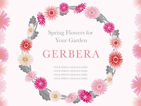 Spring flower frame Gerbera 1