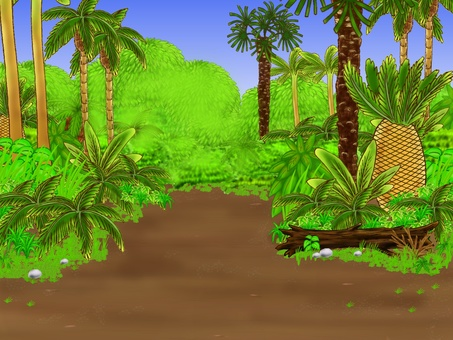 Background of the era of dinosaurs 1 Forest