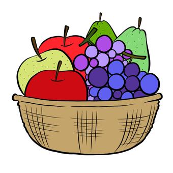 秋天的果實在籃子裡