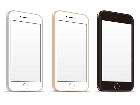 Smartphone front diagonal set