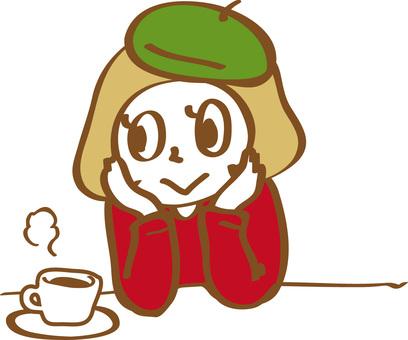 A woman making tea