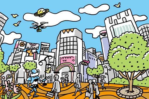 A city similar to Shibuya 2
