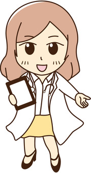 A medical interview also (medical doctor)