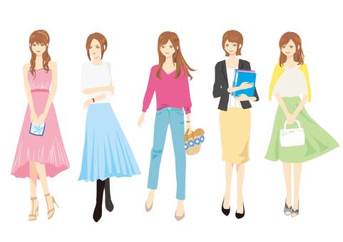 人材料001女孩集合
